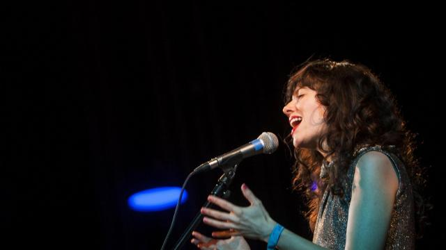 Natalie Prass performs at Fletcher Opera Theatre during the second night of Hopscotch 2015. (Jake Seaton / WRAL.com)