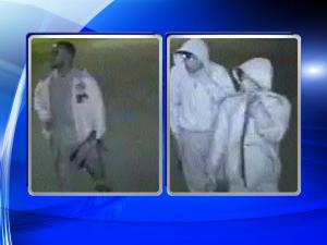 During the break-ins, three men stole a variety of items from nearly 100 individual storage units located at four different businesses.