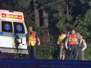 An unidentified man was struck and killed by a truck late Tuesday after leading authorities on a brief chase through parts of Johnston County, according to the North Carolina State Highway Patrol.