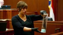 IMAGES: Knife, bloody T-shirt shown during former teacher's murder trial