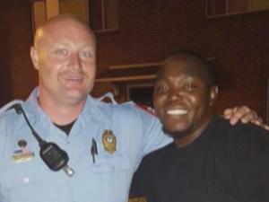 Officer JD Boyd and Cory Sanders
