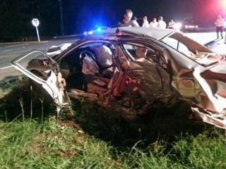 Two men died late Friday after a two-vehicle wreck on U.S. Highway 64 between Siler City and Pittsboro, according to the North Carolina State Highway Patrol. (Photo courtesy Brandon Holden)