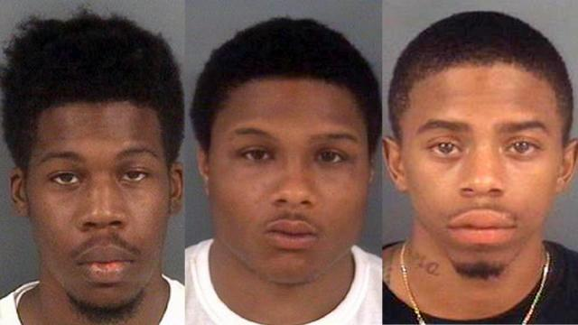 Left to right: Nathaniel Dominque Parrish, Crismani Cortez Flowers and Chyeem Bobbitt.