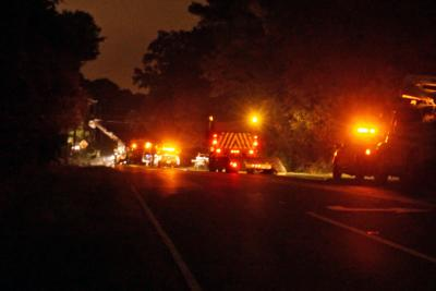 Hundreds of people lost power early Tuesday when a large oak tree fell and knocked down three power lines on Old Durham Road, Chapel Hill police said.