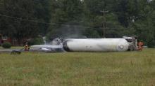 Fiery wreck shuts down NC 86
