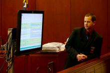 Computer forensics investigator Michael Bookreson stepped the court through email and text messages sent by Joanna Madonna.