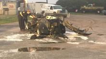 Driver cut from dragster in Knightdale car fire