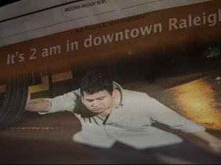 "A controversial political ad painting downtown Raleigh as ""Drunk Town"" had people talking Wednesday night after it sparked a YouTube spoof and social media backlash."