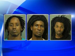 Deeshone Lamont Jamal Gilmore, 23, Anthony Craven Webster, 21, and Tyshad Jabar Lawson, 18, were arrested Thursday and charged with murder. All three men are being held at the Wake County Detention Center.