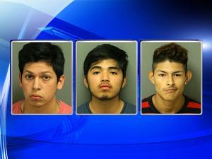 Alek Brandon Gomez, Marco-Antonio Estrella Vargas and Carlos Daniel Varona-Torres, left to right