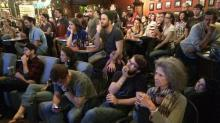 IMAGE: Triangle residents gather to watch Democratic debate