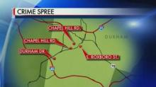 Durham Crime Spree Map