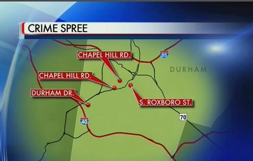Durham Crime Spree Map :: WRAL.com on