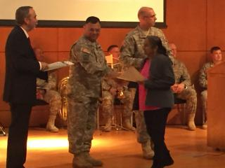 About 60 people, including some members of the military, became naturalized citizens of the United States in a ceremony Thursday morning in Raleigh.