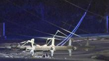 IMAGES: Police block Blue Ridge Road in Raleigh after wreck downs power lines