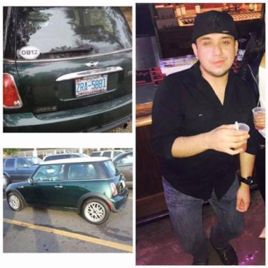 According to family, Esau Abraham Brenes was last seen dropping off some friends in his green Mini Cooper with N.C. license plate tag ZRA 3881. (Photo from Facebook)