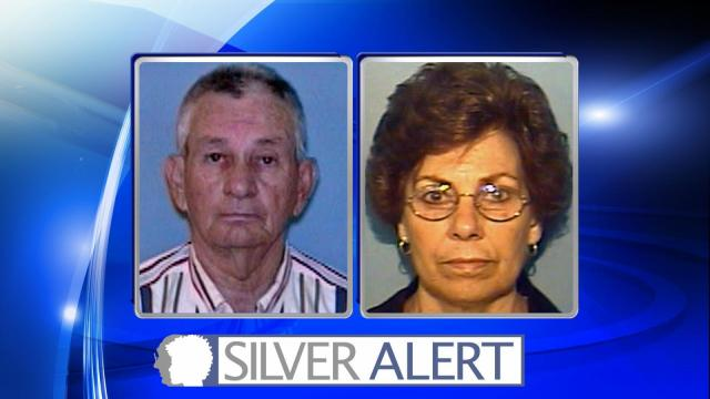 A Silver Alert was issued Saturday afternoon for a Rowan County couple who was last spotted in Raleigh.  Police are asking the public to be on the lookout for Pearlene Turben Coleman, 77, and her husband, Jimmie Coleman, 76. Both are said to be suffering from dementia or some other cogitative impairment.   Pearlene Coleman is described as being five foot two inches tall and weighing 77 pounds. She has short gray hair and brown eyes.  Jimmie Coleman is described as being six feet tall and weighing 200 pounds. He has short gray hair and green eyes. The couple was last seen just before 2 p.m. at a beauty salon located at 1425 Rock Quarry Road in Raleigh. Authorities believe that they were heading towards Poole Road and could be driving to Tabor City.  Their vehicle is described as a gold 2002 Chevrolet Silverado with North Carolina license plate MNW 8798. Anybody with information is asked to call the Rowan County Sheriff's Office at 704-216-8500 or dial 911.