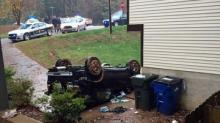 Raleigh chase ends in crash