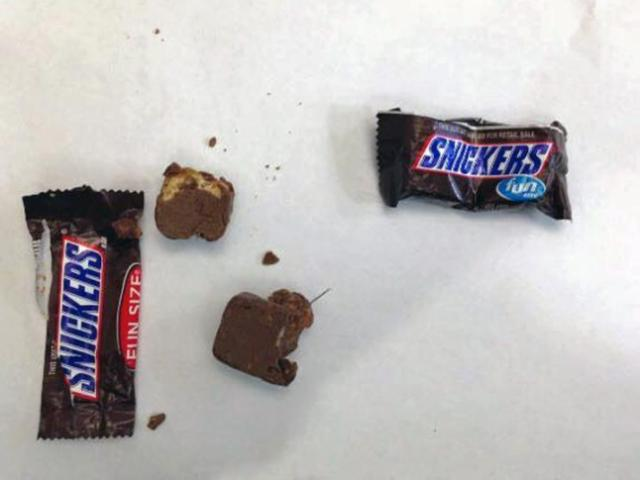 Holly Springs police said Tuesday that they are investigating after a child in the Lakeside subdivision found a needle Saturday night in their Halloween candy.