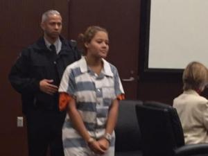 Nobody was in the courtroom for Alexis Lewis, 17, which is unusual in a case with a young defendant.