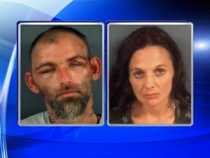 Woodrow Sidney Taylor, 32, and Carla Faith Armstrong, 38, who are both listed as homeless, are believed to have been responsible for multiple motor vehicle thefts and break-ins beginning Sept. 25.