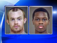 Two men escaped a prison transport van in west Raleigh Friday, Nov. 6, 2015, only to be captured about an hour later.