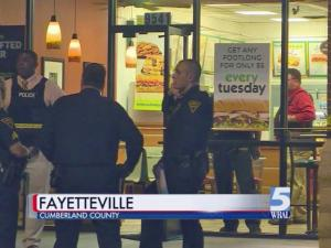 An employee of a Fayetteville Subway suffered non-life-threatening injuries late Friday after being shot during a robbery, police said.