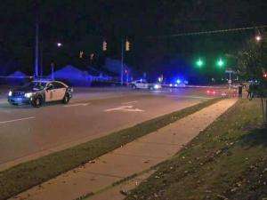 An 8-year-old girl was hospitalized Thursday night after being struck by a car on Perry Creek Road.