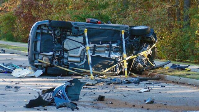 At least one person was killed Friday morning in a serious wreck on Edwards Mill Road in Raleigh.