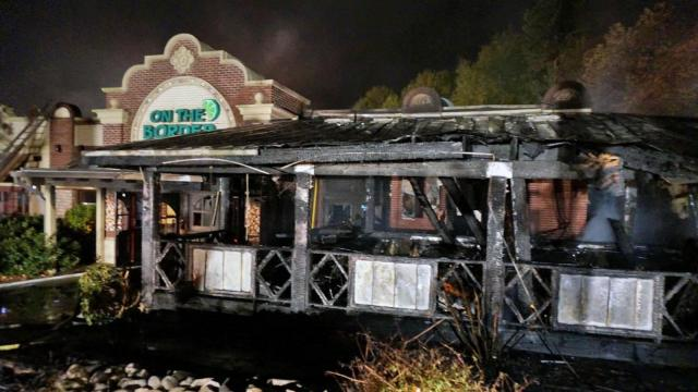 Fire destroyed a large section of a popular Cary restaurant early Thursday.