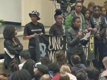 UNC students interrupt town hall on campus with list of demands