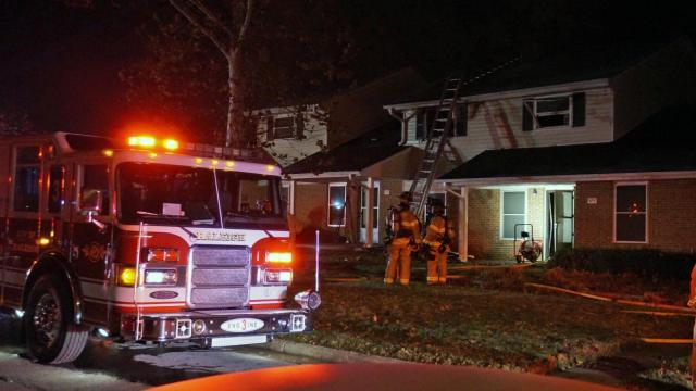No injuries were reported early Wednesday when fire broke out in an apartment near downtown Raleigh.