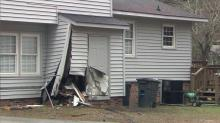 IMAGES: Driver killed when car crashes through fence, hits Hope Mills home