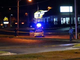A man died and a woman was hospitalized early Friday in a shooting in east Raleigh at the intersection of New Bern Avenue and Trawick Road.