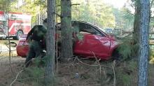 IMAGES: Man, woman killed in crash near Vass