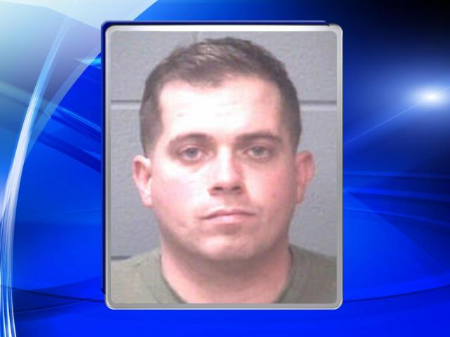 Staff Sgt. Justin Abbott, of Calhoun County, Mich., is charged with seven counts of indecent exposure and speeding in connection with incidents reported on Nov. 15 and Nov. 30.