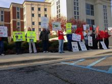 Family members and friends of a Harnett County man killed last month in an officer-involved shooting want answers about his death, and they rallied Thursday morning at the county courthouse.