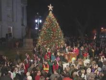 Gov. Pat McCrory lit North Carolina's official Christmas tree Thursday evening.