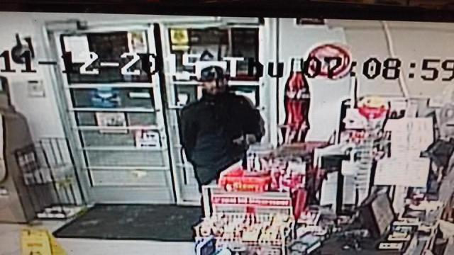 Police were seeking the public's help Tuesday to identify an armed robbery suspect who entered the Howard's Mini Mart on Barber Mill Road in Clayton.
