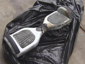 A Cary family rushed to put out a fire started by a hoverboard that was charging in the family's home.