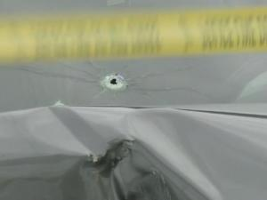 A man suffered non-life-threatening injuries Wednesday afternoon after being grazed in the head by a bullet during a shooting at a gas station on Clinton Road, police said.