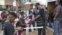 IMAGE: Motorcycle club rides through Raleigh bearing kids' gifts