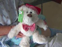Volunteers give stuffed bears to UNC hospital patients