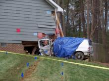 One person was sent to the hospital after a car crashed into a Cary home early Sunday morning, authorities said.