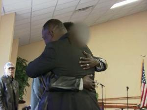 It was a frightening sight for many when a man carrying a rifle walked through the doors of a Fayetteville church during a service on New Year's Eve, but congregants describe what happened next as a holiday miracle.