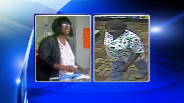 Clayton police are searching for a woman who allegedly used stolen credit cards to make purchases at two Garner stores one week before Christmas.