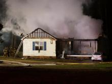 A home south of the Town of Garner was destroyed by fire early Wednesday morning.