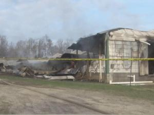 Officials said a fire at a pig barn on Wednesday morning killed 1,500 piglets.
