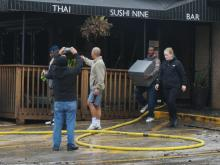 No injuries were reported in a fire at a Raleigh restaurant early Friday morning that shut down a portion of Western Boulevard.