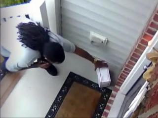 Home security camera catches front-porch theft